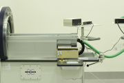 High-field Bruker Biospec small animal imaging MRI - bed and lab space