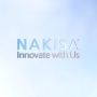 Nakisa logo and title lighting flair animation
